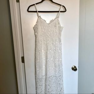 Dresses & Skirts - Milk + Choco White Lace Midi Dress NWOT